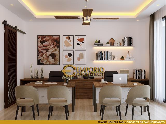 Desain Ruang Konsultasi Rumah Modern 2 Lantai Bapak Hermanto di Bogor, Jawa Barat