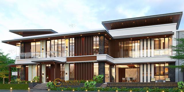 Desain Tampak Samping 2 Rumah Modern 2 Lantai Bapak Pandita di Karawang, Jawa Barat