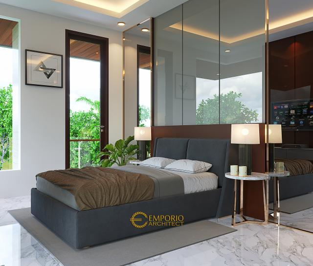 Desain Kamar Tidur Anak Rumah Modern 2 Lantai Bapak Pandita di Karawang, Jawa Barat