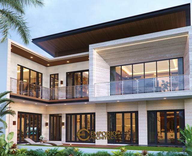 Desain Tampak Belakang Rumah Modern 2 Lantai Ibu Khadijah di Makassar, Sulawesi Selatan