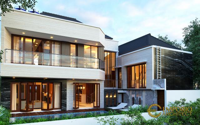Desain Tampak Belakang Rumah Modern 2 Lantai Ibu Diana di Bandar Lampung