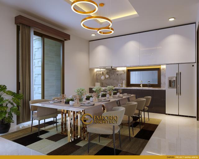 Desain Dapur Rumah Modern 2 Lantai Bapak Arifin di BSD, Tangerang Selatan