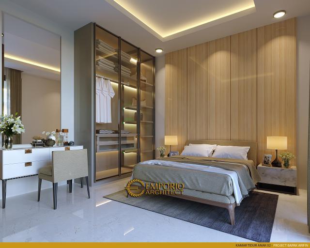Desain Kamar Tidur Anak 2 Rumah Modern 2 Lantai Bapak Arifin di BSD, Tangerang Selatan