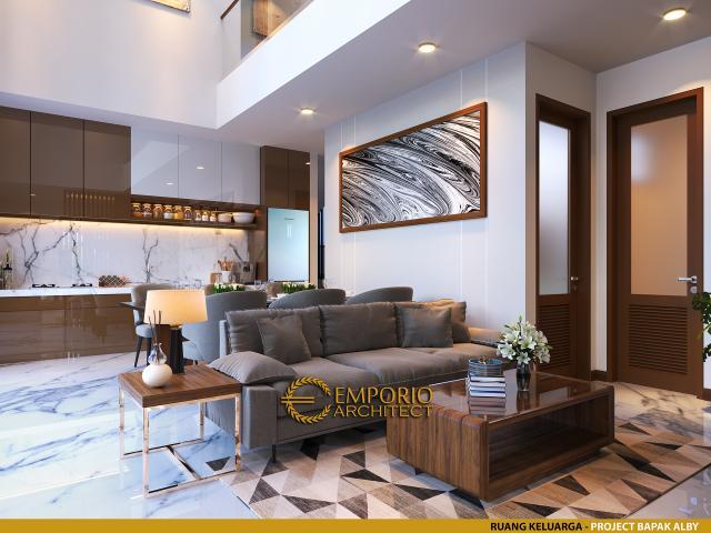 Desain Ruang Keluarga Rumah Modern 2 Lantai Bapak Alby di Batu, Malang, Jawa Timur