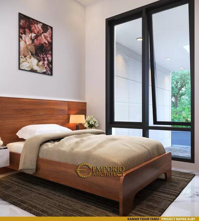 Desain Kamar Tidur Tamu Rumah Modern 2 Lantai Bapak Alby di Batu, Malang, Jawa Timur