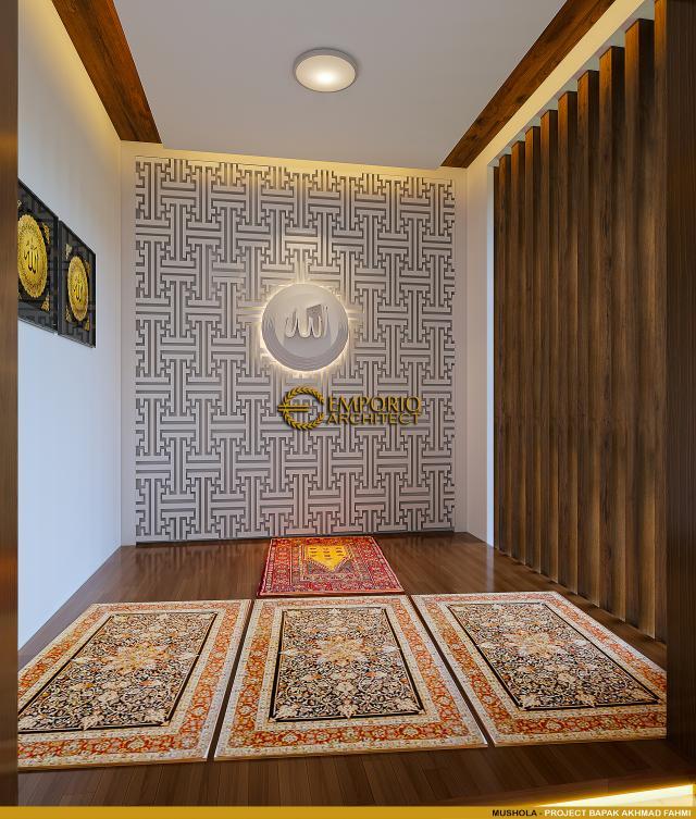 Desain Mushola Rumah Modern 2 Lantai Bapak Akhmad Fahmi di Bekasi, Jawa Barat