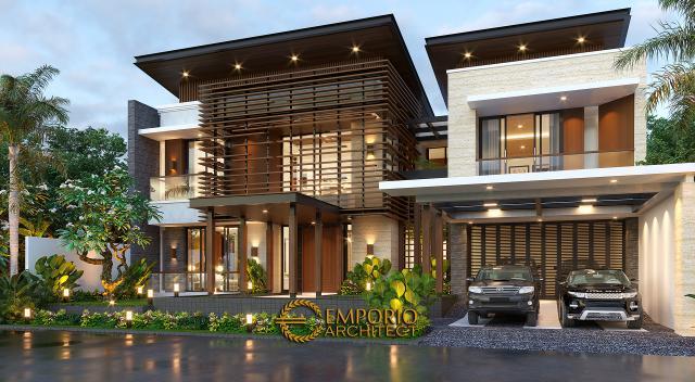 Desain Rumah Modern 2 Lantai Bapak Fatah di  Blora, Jawa Tengah