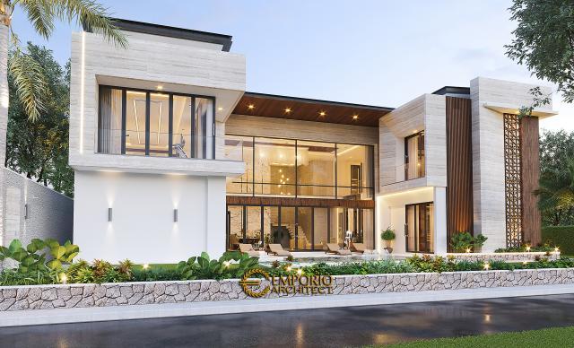 Desain Tampak Samping Rumah Modern 2 Lantai Ibu Novi di Palembang