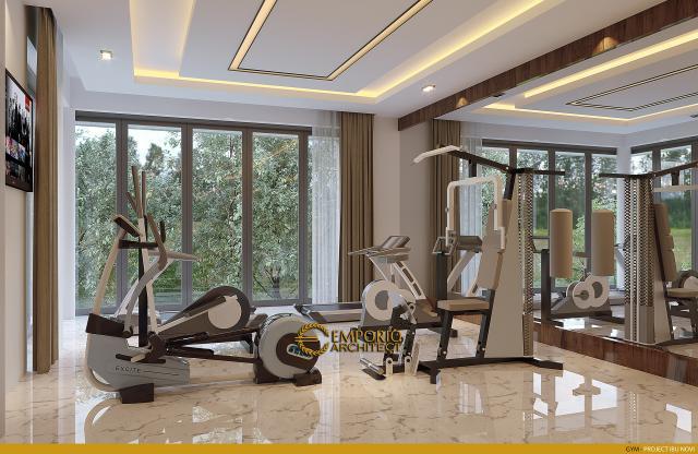 Desain Ruang Gym Rumah Modern 2 Lantai Ibu Novi di Palembang