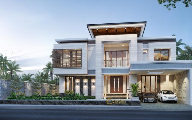 Mr. Hendry Modern House 2 Floors Design - Banjarmasin, Kalimantan Selatan