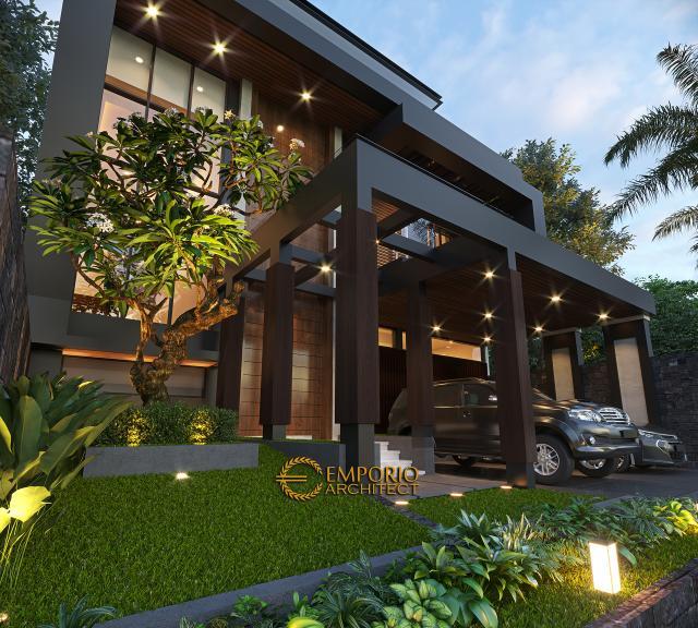Desain Rumah Modern 2 Lantai Ibu Wita di  Jakarta Barat