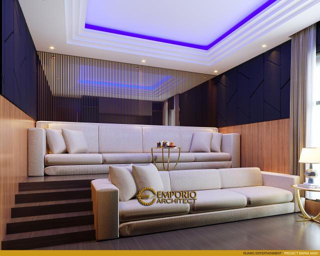 Desain Ruang Entertainment Rumah Modern 2 Lantai Bapak Andi di Lahat, Sumatera Selatan