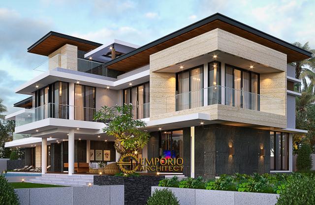 Desain Tampak Samping 2 Rumah Modern 2 Lantai Ibu Sisca di Bogor, Jawa Barat