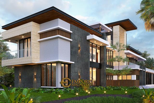 Desain Tampak Belakang Rumah Modern 2 Lantai Ibu Sisca di Bogor, Jawa Barat
