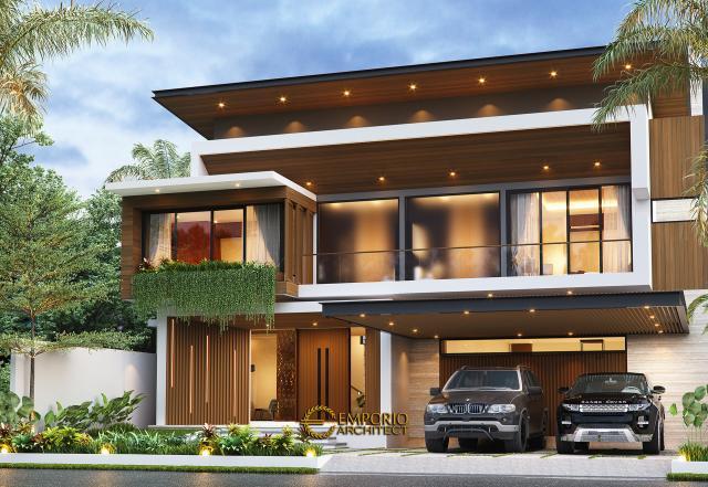 Desain Tampak Depan 2 Rumah Modern 2 Lantai Bapak Yoga di Lampung