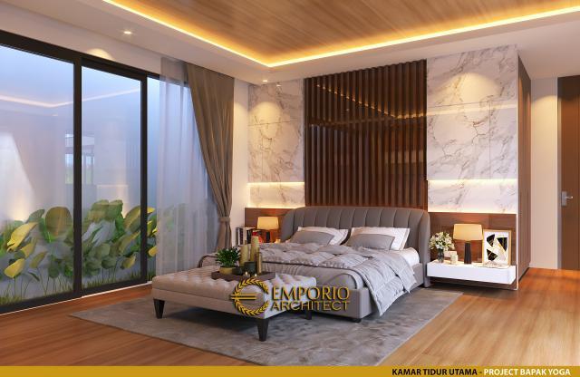 Desain Kamar Tidur Utama Rumah Modern 2 Lantai Bapak Yoga di Lampung