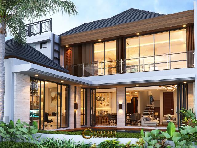 Desain Tampak Belakang Rumah Modern 2 Lantai Ibu Susan di Bandung