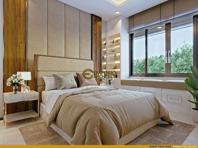 Desain Kamar Tidur Anak Rumah Modern 2 Lantai Ibu Juliana di Cikarang, Bekasi, Jawa Barat