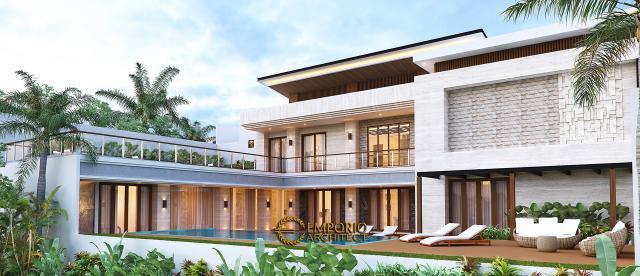 Desain Tampak Belakang Rumah Modern 2 Lantai Bapak Hendry II di Banjarmasin, Kalimantan Selatan