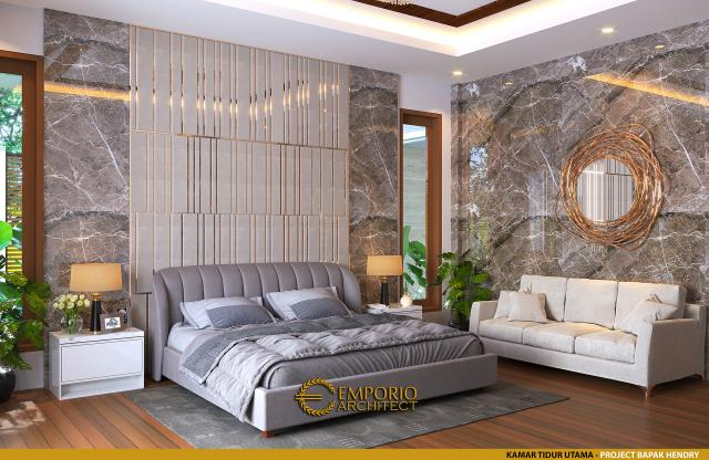 Desain Kamar Tidur Utama Rumah Modern 2 Lantai Bapak Hendry II di Banjarmasin, Kalimantan Selatan