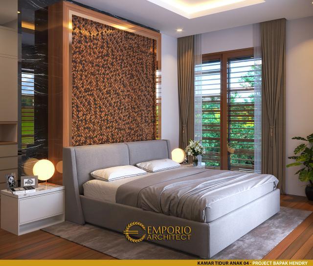 Desain Kamar Tidur Anak 4 Rumah Modern 2 Lantai Bapak Hendry II di Banjarmasin, Kalimantan Selatan