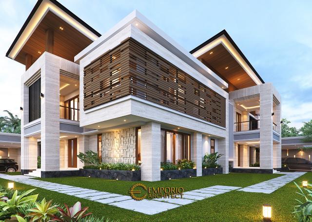 Desain Tampak Detail Hook Rumah Modern 2 Lantai Bapak Hendry II di Banjarmasin, Kalimantan Selatan