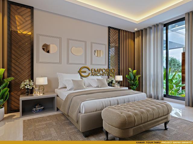 Desain Kamar Tidur Tamu Rumah Modern 2 Lantai Bapak Swanto di Tangerang, Banten