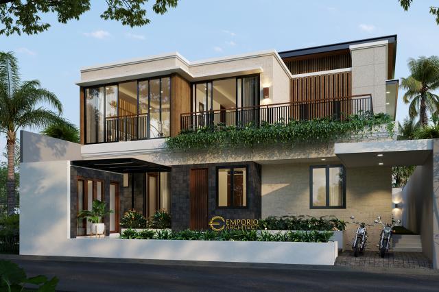 Desain Tampak Belakang Rumah Modern 2 Lantai Bapak Ali di Denpasar, Bali