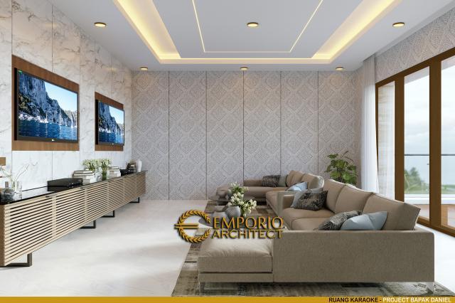 Desain Ruang Karaoke Rumah Modern 2 Lantai Bapak Daniel di Bengkulu