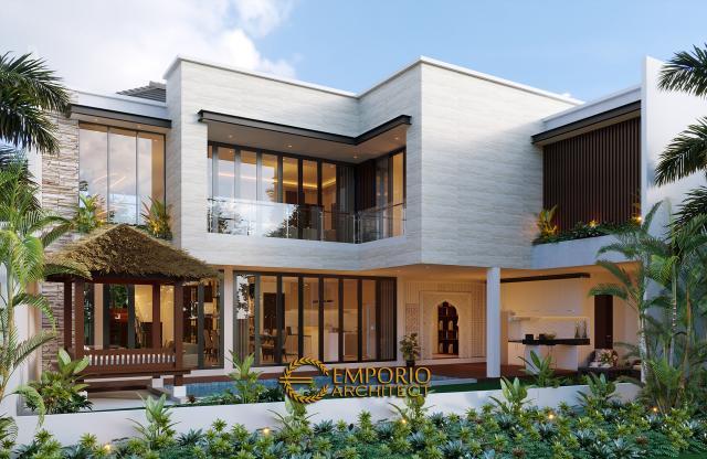 Desain Tampak Belakang Rumah Modern 2 Lantai Bapak T di Citraland, Jakarta