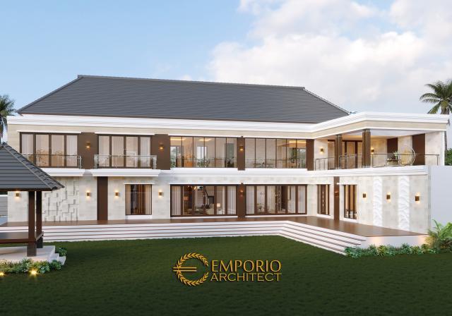 Desain Rumah Villa Bali Modern 2 Lantai Bapak Wahyudi di  Banjarmasin, Kalimantan Selatan