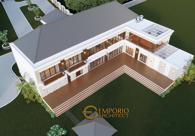 Desain Masterplan Belakang Rumah Villa Bali Modern 2 Lantai Bapak Wahyudi di Banjarmasin, Kalimantan Selatan