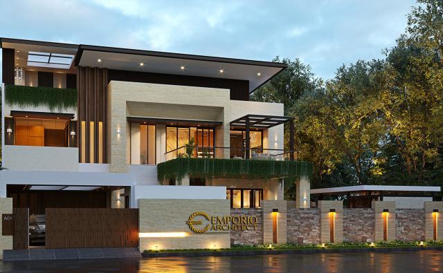 Mr. Budi Modern House 2.5 Floors Design - Jakarta Timur