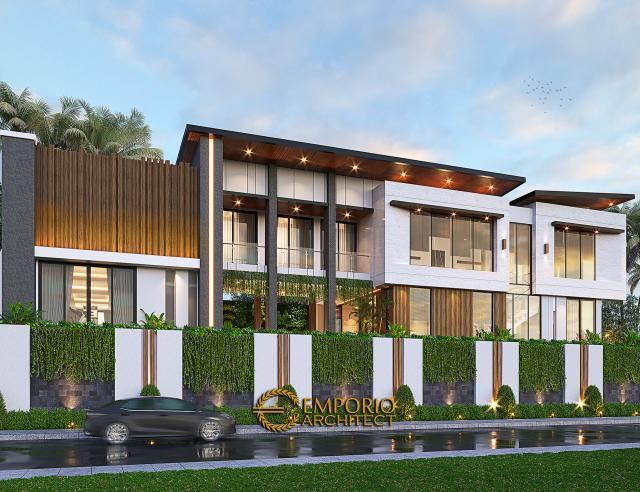 Desain Tampak Samping Rumah Modern 2.5 Lantai Ibu Desi di Jakarta