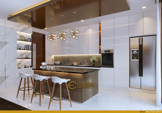 Desain Dapur Rumah Modern 2.5 Lantai Ibu Cristine di Jimbaran, Badung, Bali