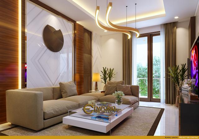 Desain Ruang Santai Rumah Modern 2.5 Lantai Ibu Cristine di Jimbaran, Badung, Bali