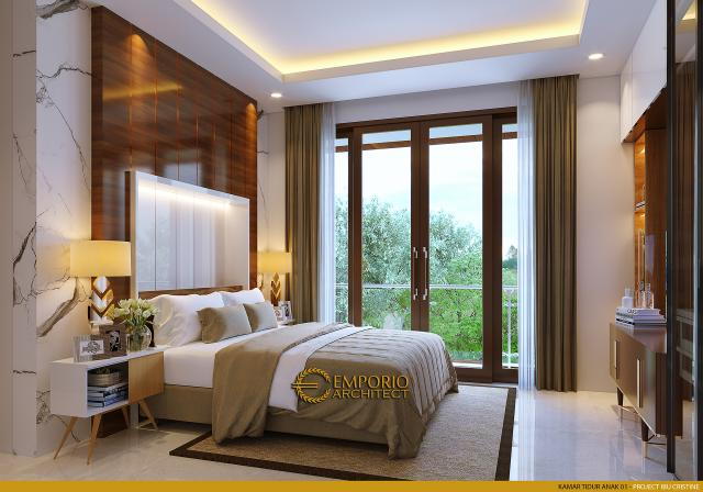 Desain Kamar Tidur Anak 1 Rumah Modern 2.5 Lantai Ibu Cristine di Jimbaran, Badung, Bali