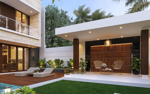 Desain Area Santai Rumah Modern 2.5 Lantai Ibu Cristine di Jimbaran, Badung, Bali