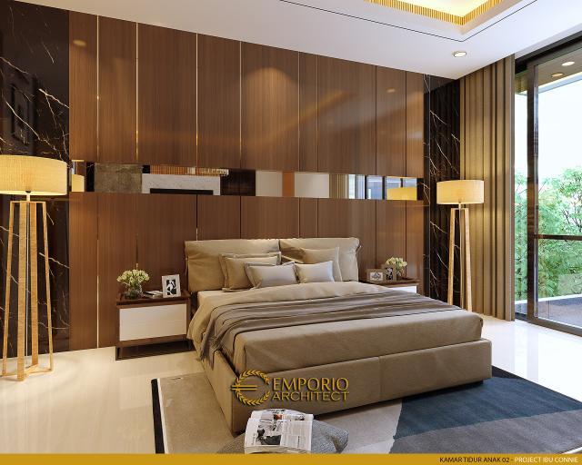 Desain Kamar Tidur Anak 2 Rumah Modern 2.5 Lantai Ibu Connie di PIK, Jakarta Utara