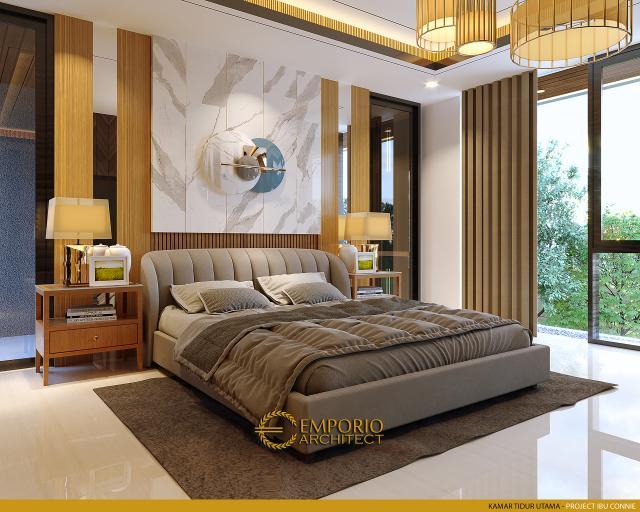 Desain Kamar Tidur Utama Rumah Modern 2.5 Lantai Ibu Connie di PIK, Jakarta Utara