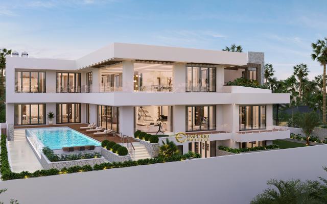 Mr. Pieter Modern House 2.5 Floors Design - Makassar, Sulawesi Selatan