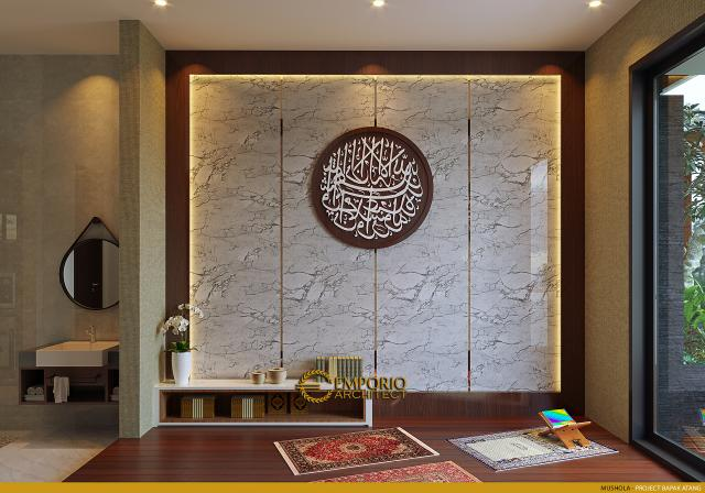 Desain Mushola Rumah Modern 2.5 Lantai Bapak Atang di Bandung, Jawa Barat