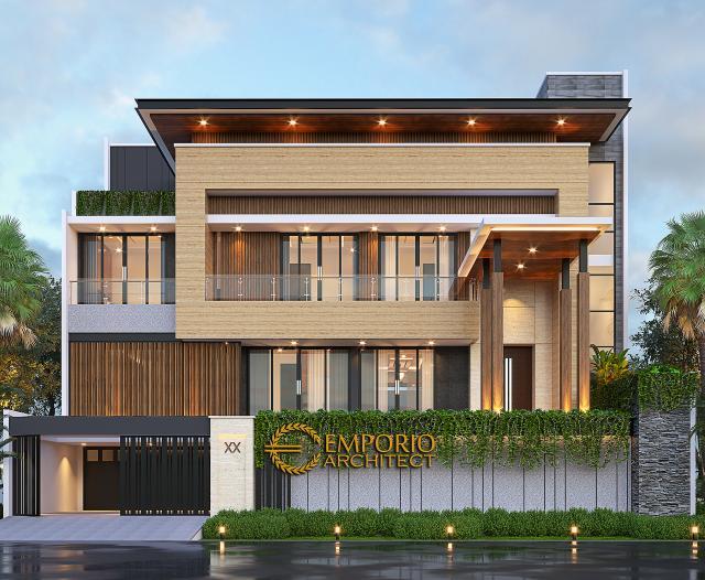 Desain Tampak Depan 3 Rumah Modern 2.5 Lantai Bapak Syoffa di Jakarta Timur