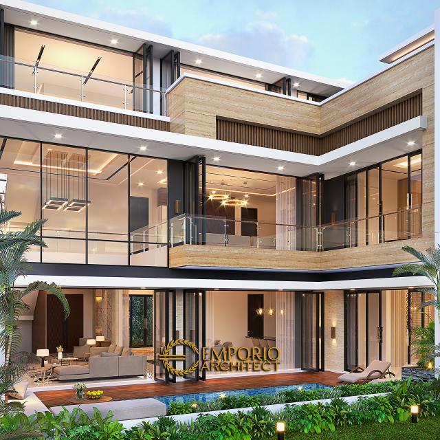 Desain Tampak Belakang Rumah Modern 2.5 Lantai Bapak Syoffa di Jakarta Timur