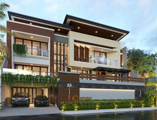 Desain Rumah Modern 2.5 Lantai Ibu Tutus di  Malang, Jawa Timur