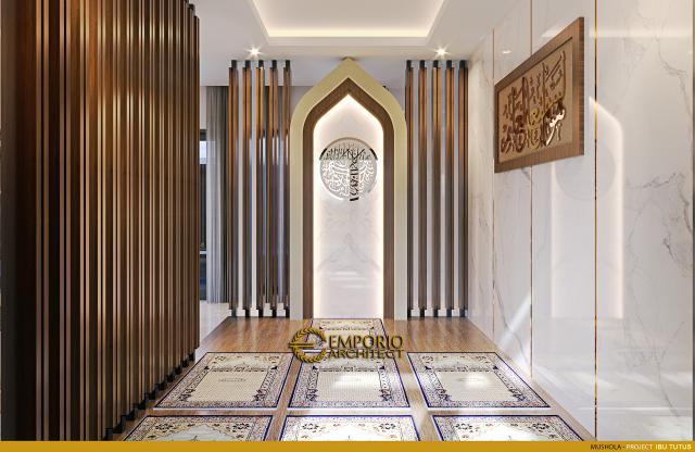 Desain Mushola Rumah Modern 2.5 Lantai Ibu Tutus di Malang, Jawa Timur