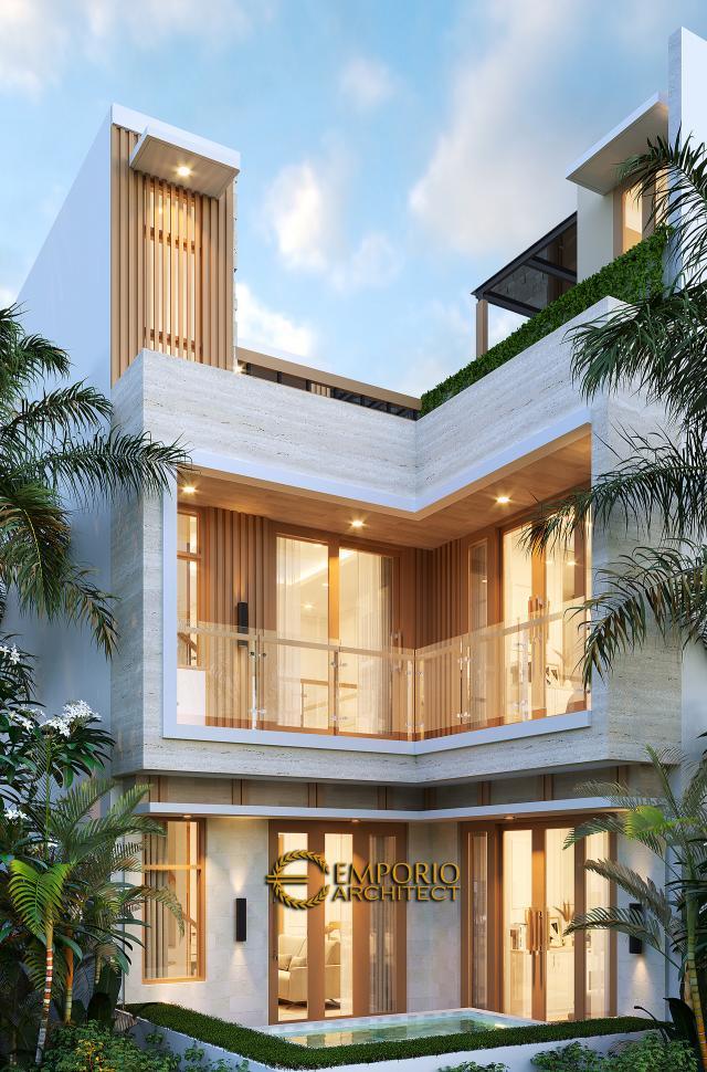 Desain Tampak Belakang Rumah Modern 3 Lantai Ibu Desi di Makassar, Sulawesi Selatan