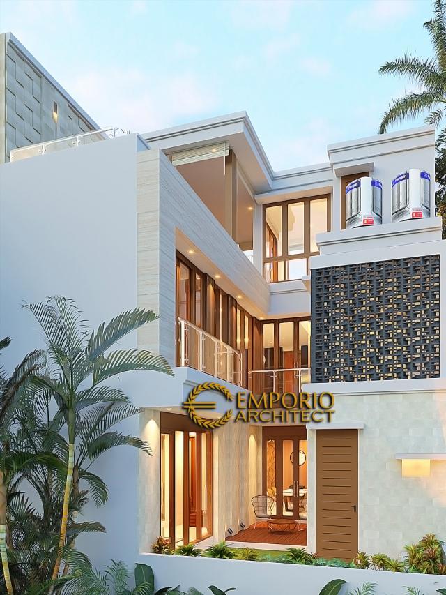 Desain Tampak Belakang Rumah Modern 3 Lantai Bapak Suwandi di Surabaya