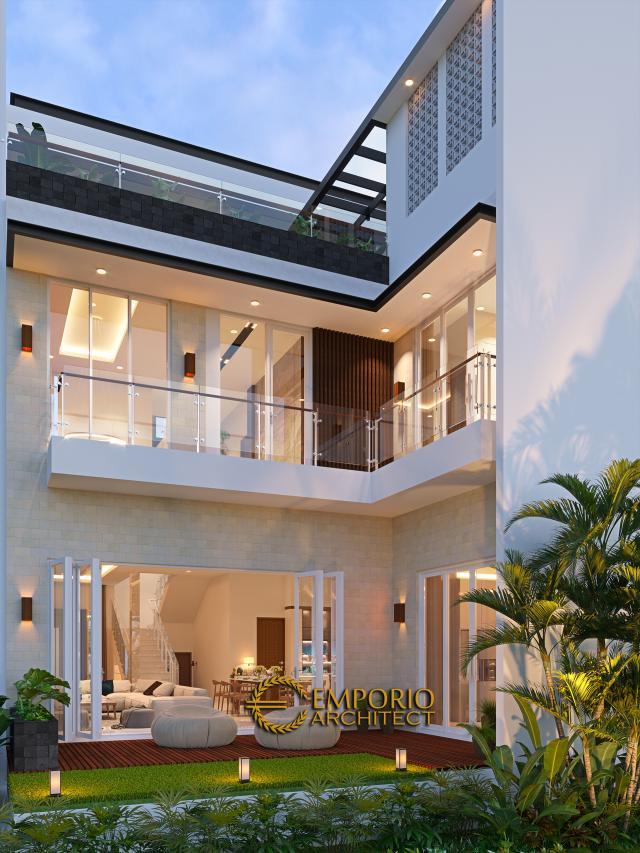 Desain Tampak Belakang Rumah Modern 3 Lantai Bapak Gunawan di Jakarta Barat
