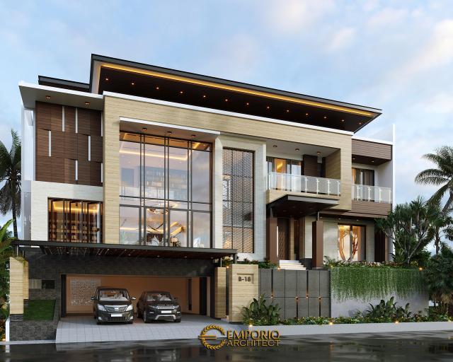 Mr. V Modern House 3.5 Floors Design - Jakarta Timur